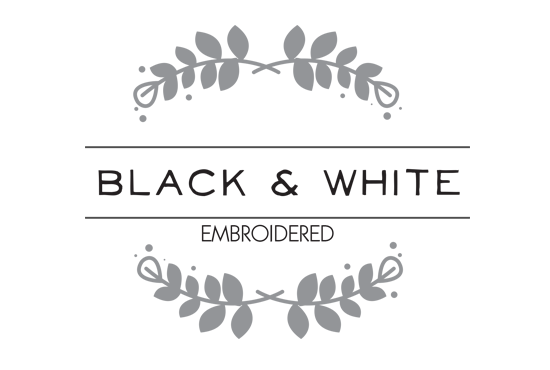 Black & White Embroidered